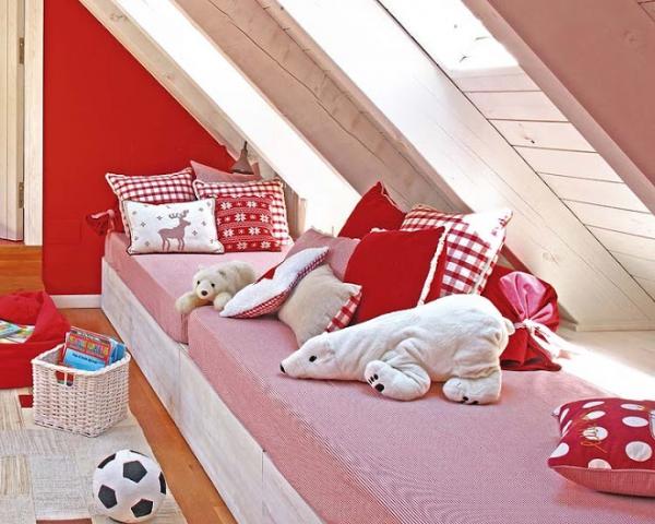 Αξιολάτρευτο κόκκινο παιδικό δωμάτιο1