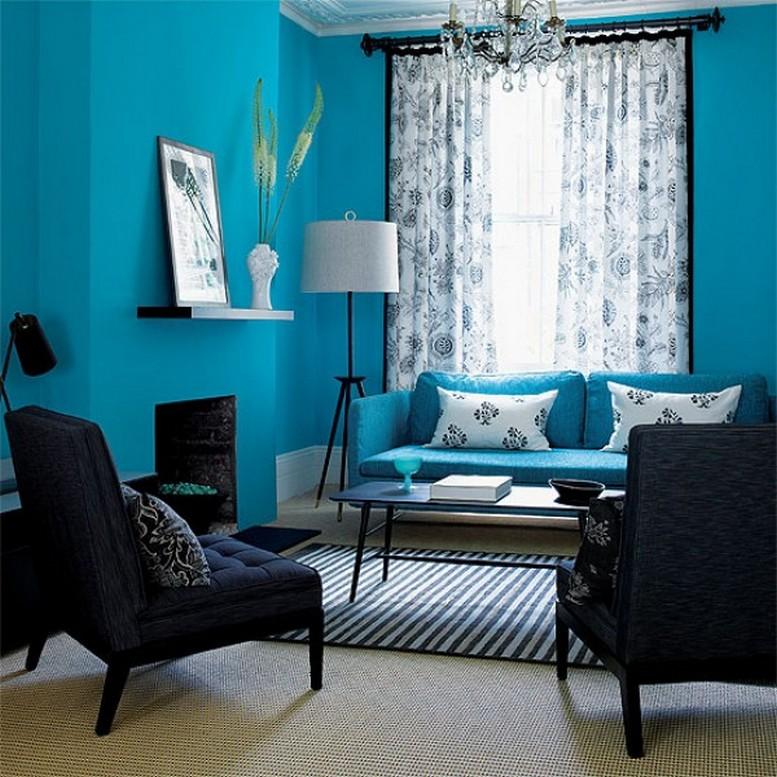 Μπλε χρώμα στην εσωτερική διακόσμηση