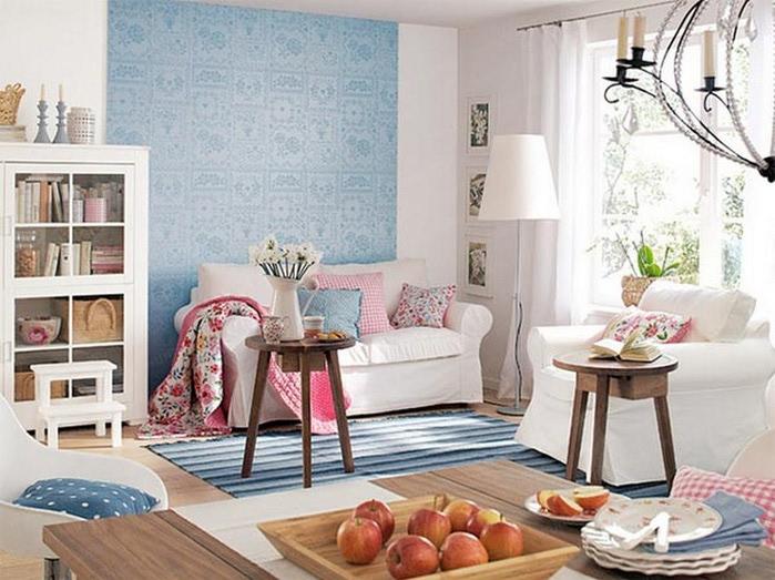 Μπλε χρώμα στην εσωτερική διακόσμηση10