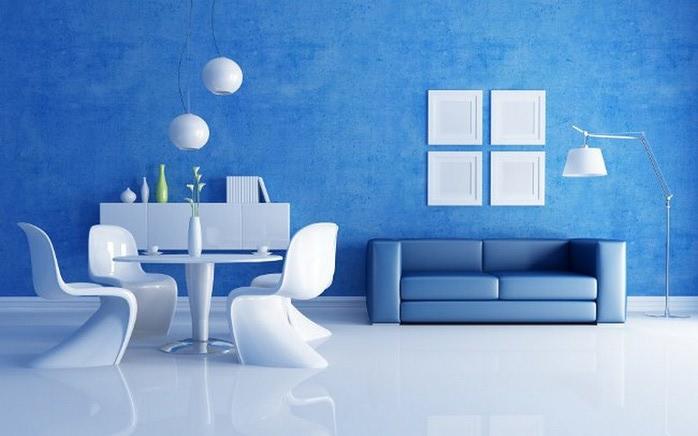 Μπλε χρώμα στην εσωτερική διακόσμηση12