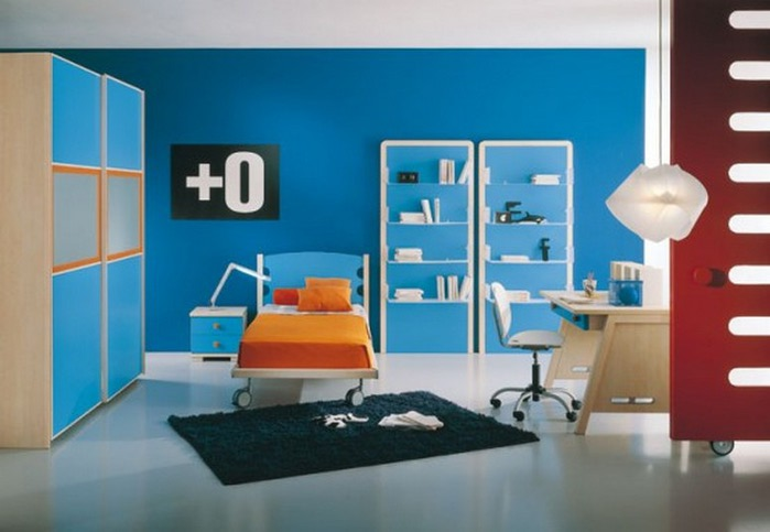 Μπλε χρώμα στην εσωτερική διακόσμηση15