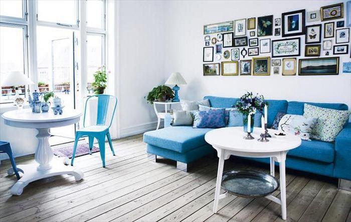 Μπλε χρώμα στην εσωτερική διακόσμηση3