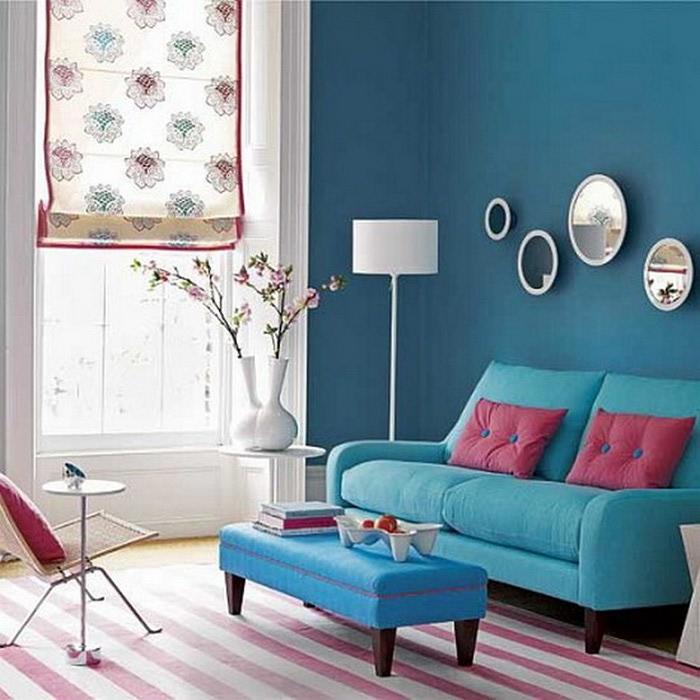 Μπλε χρώμα στην εσωτερική διακόσμηση6