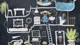 Παιχνιδιάρικες ιδέες διακόσμησης τοίχου παιδικού δωματίου4