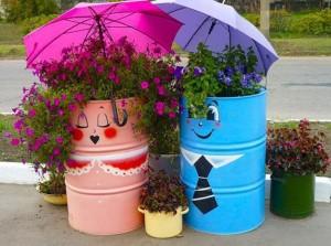 Πολύχρωμες Ιδέες ανακύκλωσης Μεταλλικών βαρελιών
