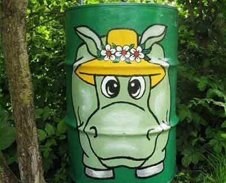 Πολύχρωμες Ιδέες ανακύκλωσης Μεταλλικών βαρελιών13