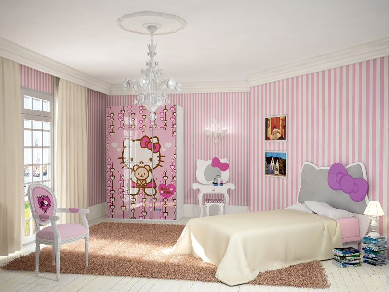 Ροζ Ιδέες για παιδικό Υπνοδωμάτιο10