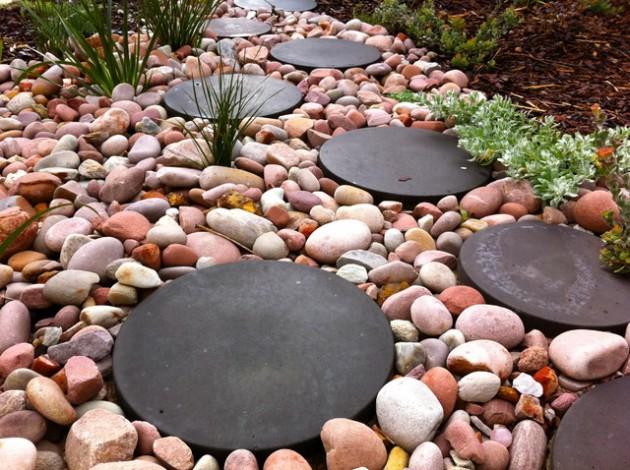 διακόσμηση κήπου με πέτρες16