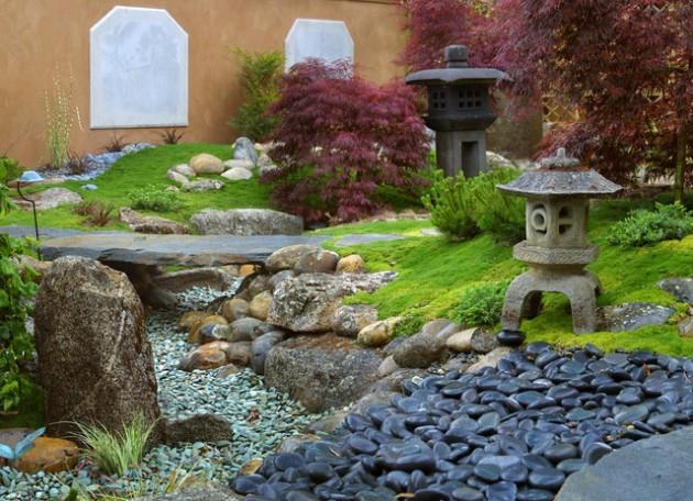 διακόσμηση κήπου με πέτρες5