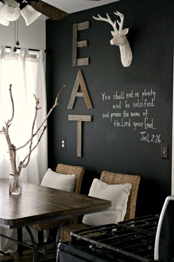 χρώμα μαυροπίνακα για διακόσμηση στο σπίτι29