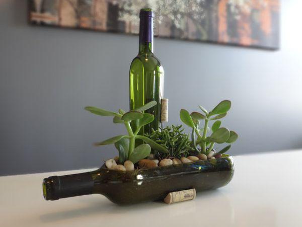 Diy Ιδέες από Μπουκάλια κρασιού8
