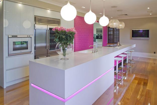 Ιδέες με Μοβ και ροζ χρώματα κουζίνας