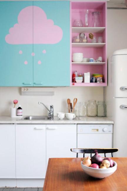 Ιδέες με Μοβ και ροζ χρώματα κουζίνας1