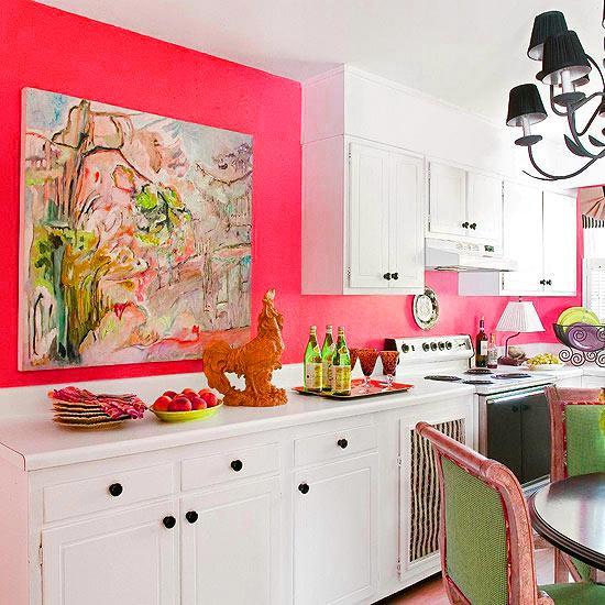 Ιδέες με Μοβ και ροζ χρώματα κουζίνας10