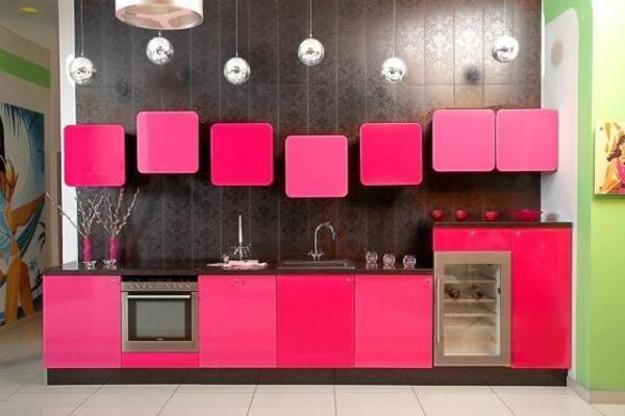 Ιδέες με Μοβ και ροζ χρώματα κουζίνας11