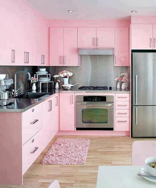 Ιδέες με Μοβ και ροζ χρώματα κουζίνας13