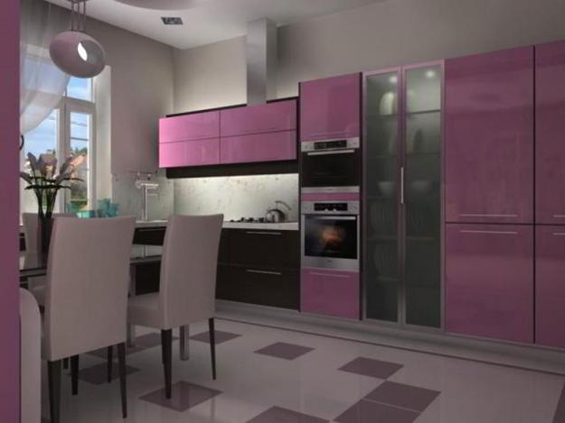 Ιδέες με Μοβ και ροζ χρώματα κουζίνας15