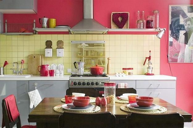 Ιδέες με Μοβ και ροζ χρώματα κουζίνας3