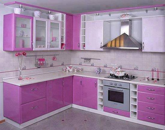 Ιδέες με Μοβ και ροζ χρώματα κουζίνας8