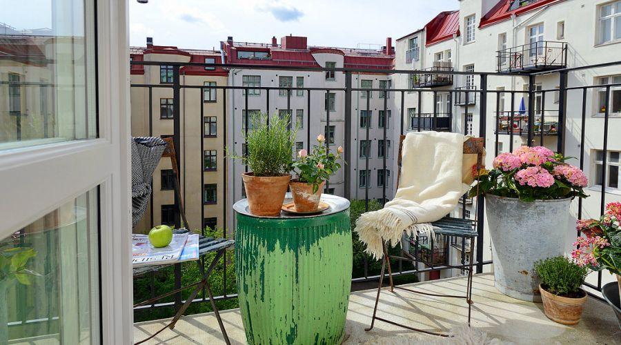 ιδέες διακόσμησης μπαλκονιού από τη Σκανδιναβία