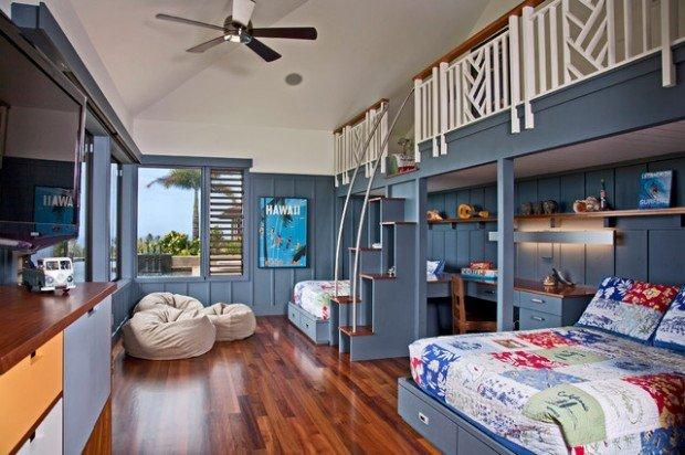 Υπνοδωμάτια για παιδιά Σχεδιασμένα σε θαλασσινό στυλ16