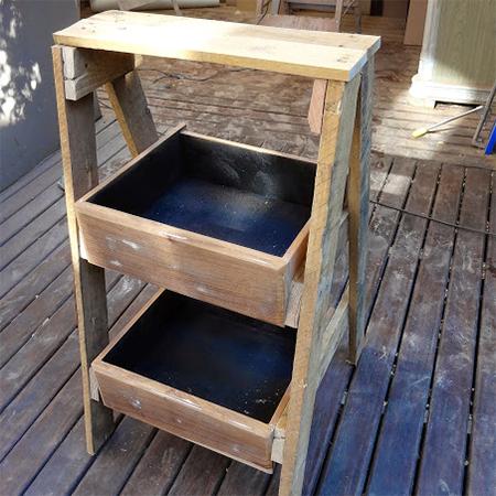 σταντ για βότανα ή φυτά από ξύλινές παλέτες8