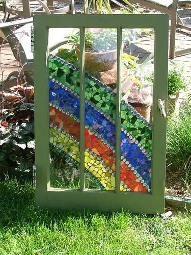 Ιδέες με ανακύκλωση παλιών ξύλινων πορτών και παραθύρων12