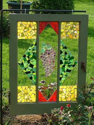 Ιδέες με ανακύκλωση παλιών ξύλινων πορτών και παραθύρων13
