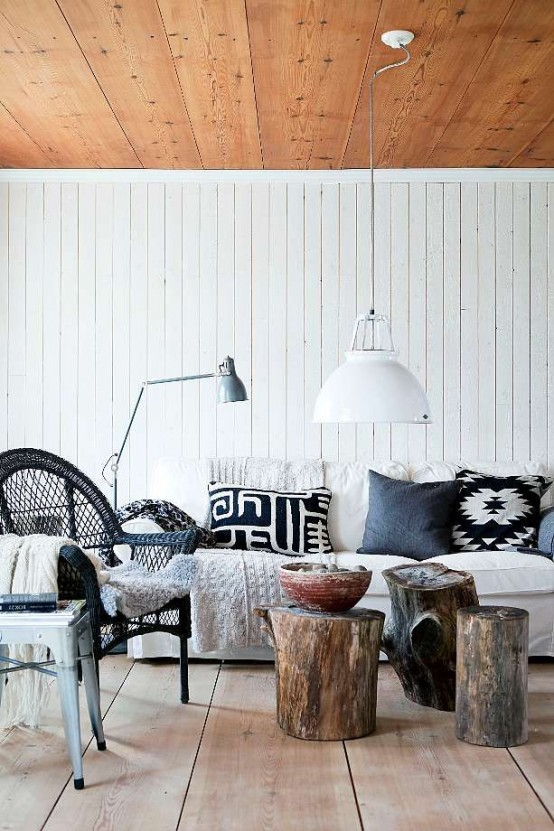 Ιδέες με Κούτσουρα Για μια Φυσική διακόσμηση σπιτιού10