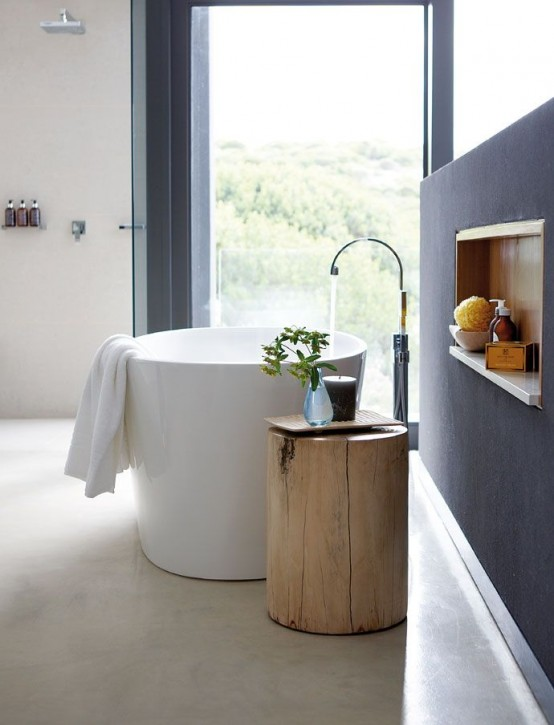 Ιδέες με Κούτσουρα Για μια Φυσική διακόσμηση σπιτιού14