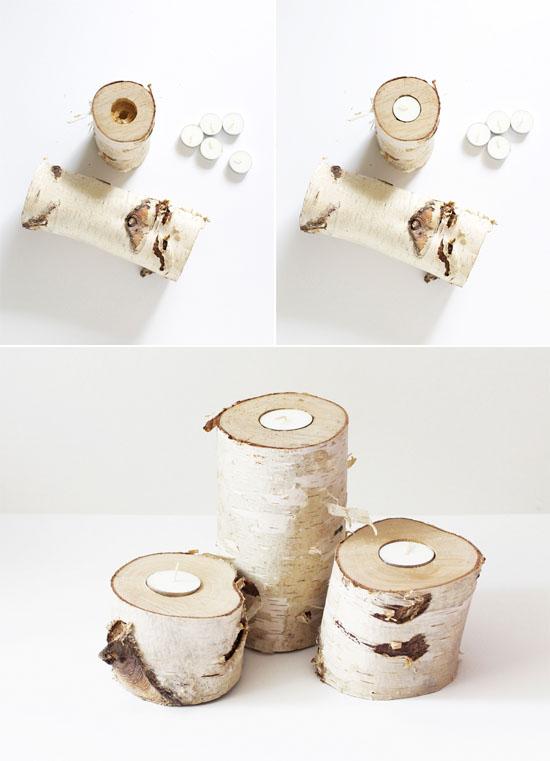 Diy κηροπήγια απο ξύλο σημύδας3