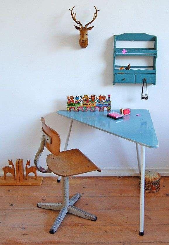 Εκπληκτικά παιδικά vintage γραφεία2