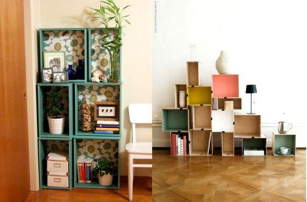Ιδέες διακόσμησης με βαμμένα ξύλινα κιβώτια