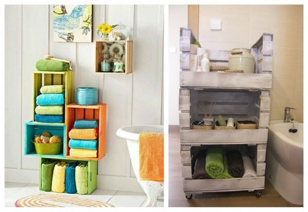 Ιδέες διακόσμησης με βαμμένα ξύλινα κιβώτια2
