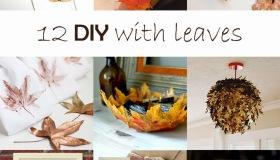 Φθινοπωρινές DIY διακοσμητικές ιδέες με φύλλα