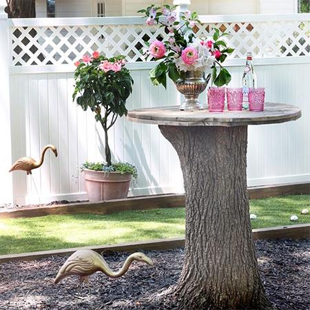ιδέες με κορμούς δέντρου στον κήπο1