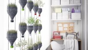 κρεμαστά φυτά τοίχου από ανακυκλωμένα πλαστικά μπουκάλια