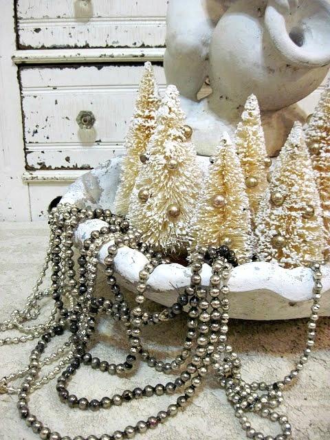 Ιδέες για Vintage λευκά  Χριστούγεννα12