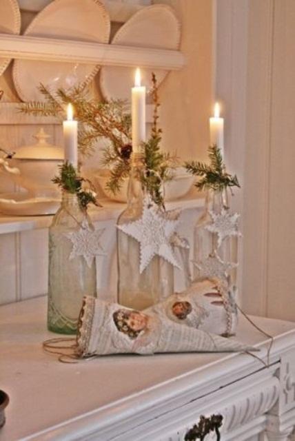 Ιδέες για Vintage λευκά  Χριστούγεννα13