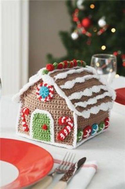 Πλεκτά Χριστουγεννιάτικα διακοσμητικά17