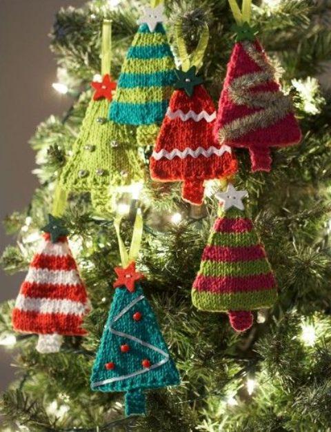 Πλεκτά Χριστουγεννιάτικα διακοσμητικά5