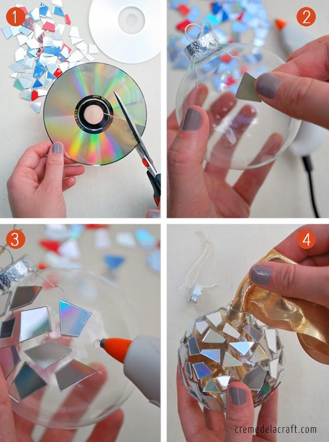 Χριστουγεννιάτικα στολίδια από σπασμένα ή παλιά CDs5