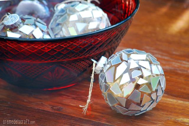 Χριστουγεννιάτικα στολίδια από σπασμένα ή παλιά CDs6