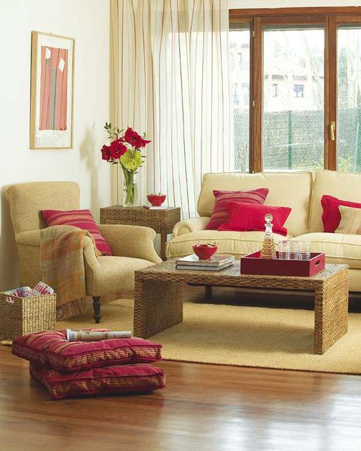 ιδέες και σχέδια για Καθιστικού με κόκκινο χρώμα1