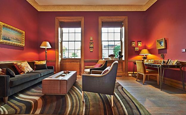 ιδέες και σχέδια για Καθιστικού με κόκκινο χρώμα19