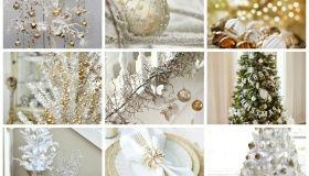 χρυσάφι Και Λευκές Χριστουγεννιάτικες Ιδέες