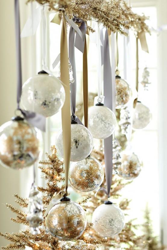 χρυσάφι Και Λευκές Χριστουγεννιάτικες Ιδέες13