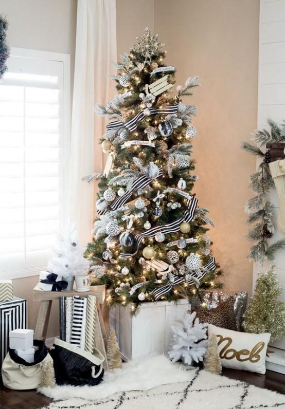 χρυσάφι Και Λευκές Χριστουγεννιάτικες Ιδέες16