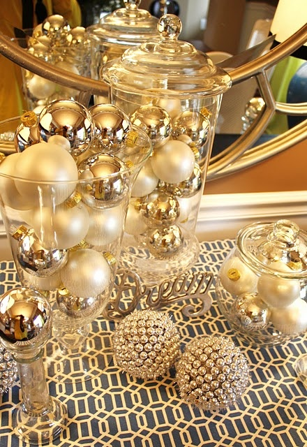 χρυσάφι Και Λευκές Χριστουγεννιάτικες Ιδέες17
