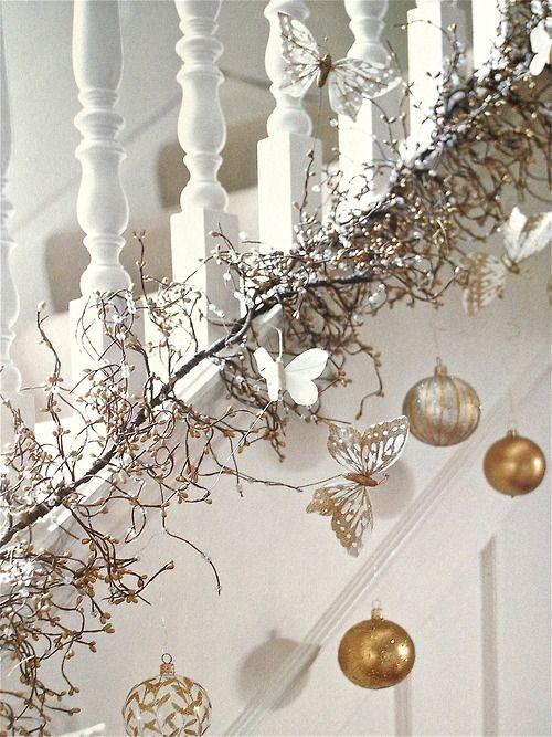 χρυσάφι Και Λευκές Χριστουγεννιάτικες Ιδέες2